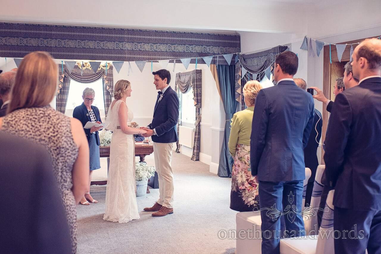 Wedding vows photograph at Balmer Lawn Hotel Wedding ceremony