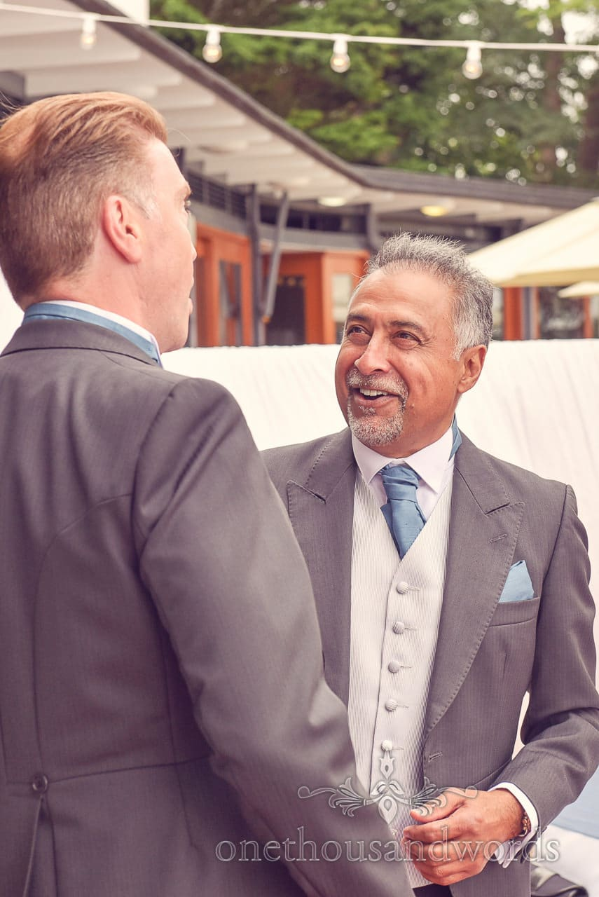 Best man and groom at Harbour Heights wedding