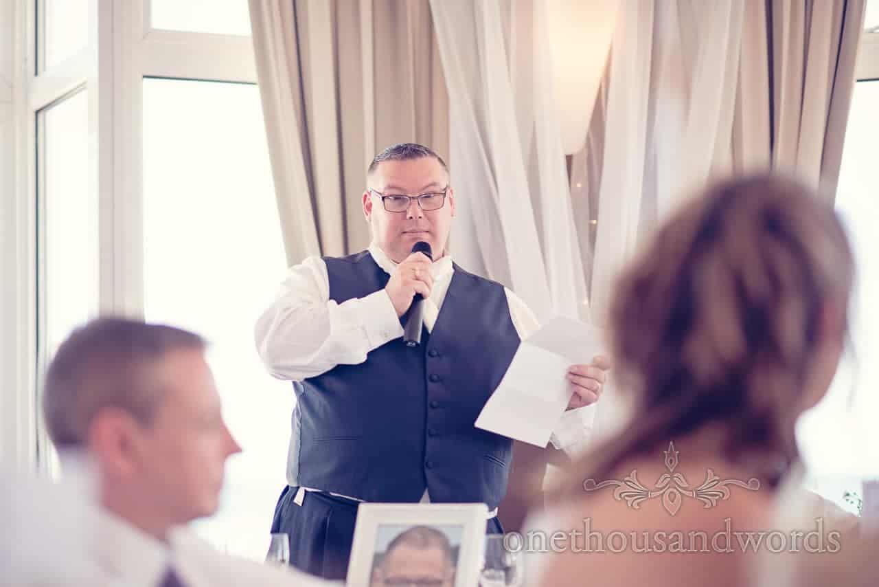 Best man's speech at Sandbanks Hotel Wedding