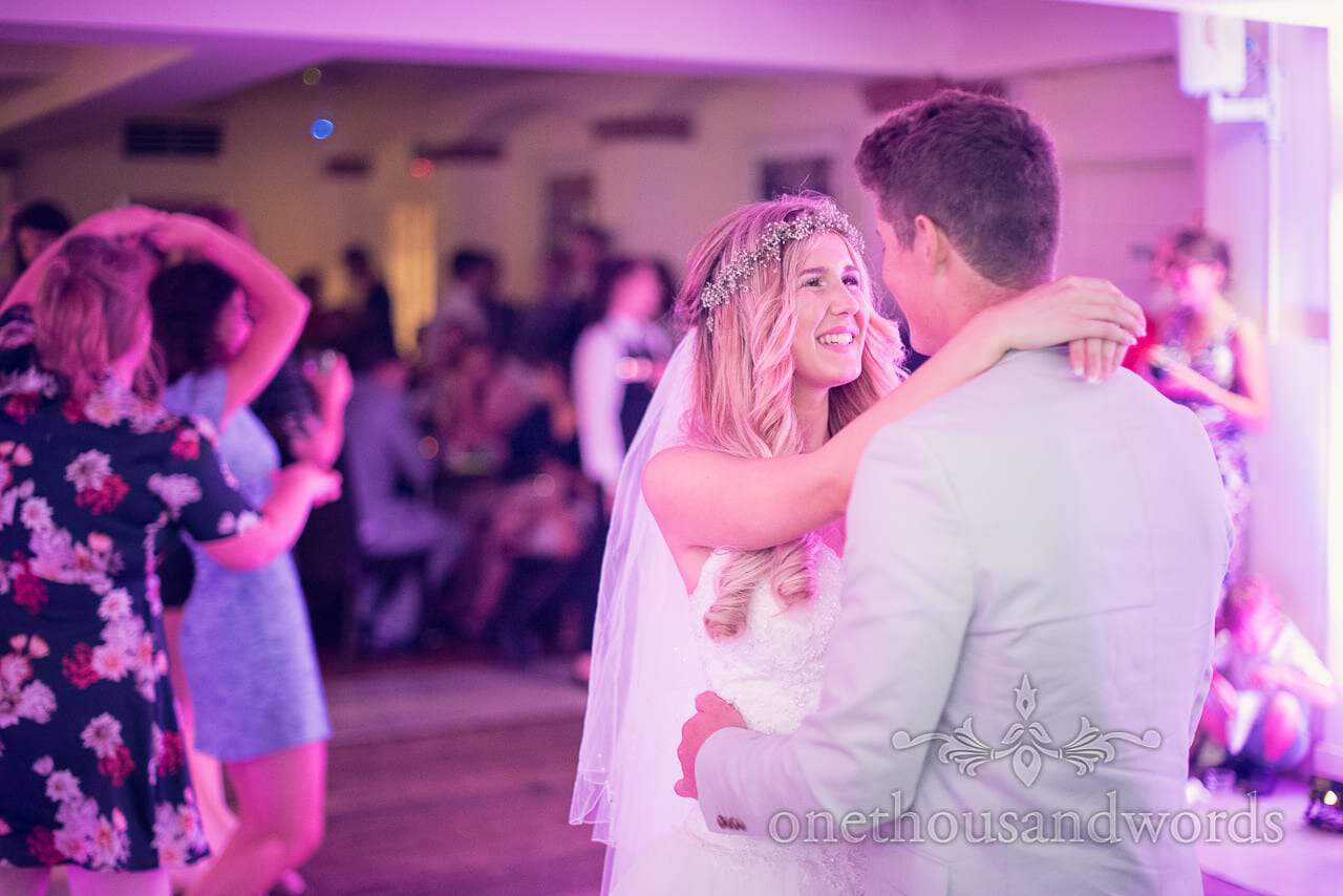 Bride and groom dancing at italian villa wedding photographs