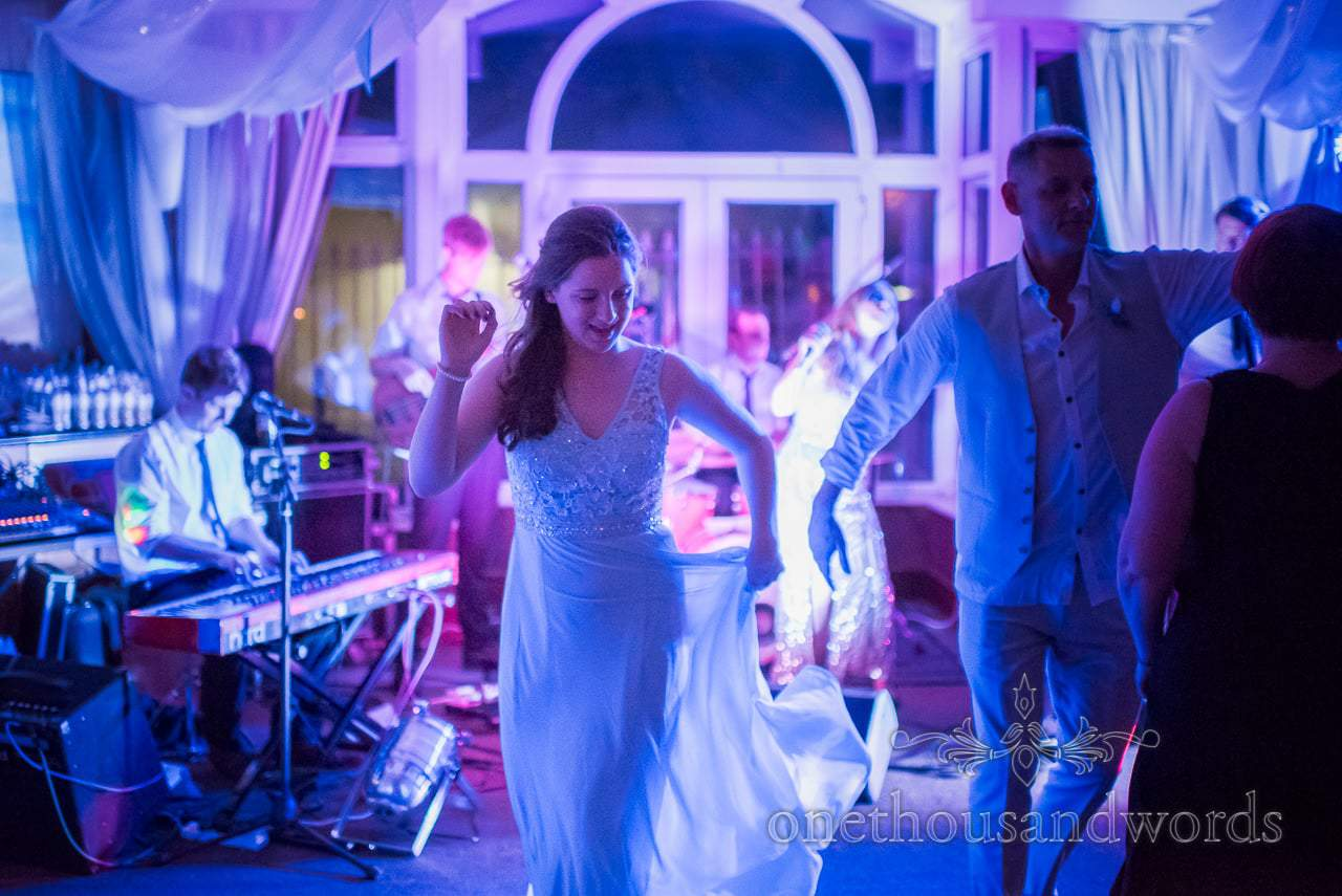 Bridesmaid dances at Sandbanks Hotel Wedding