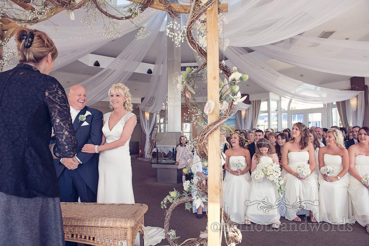 Civil ceremony at Sandbanks Hotel Wedding