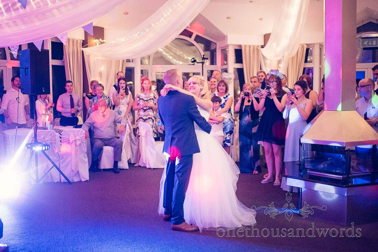 First Dance at Sandbanks Hotel wedding in Dorset