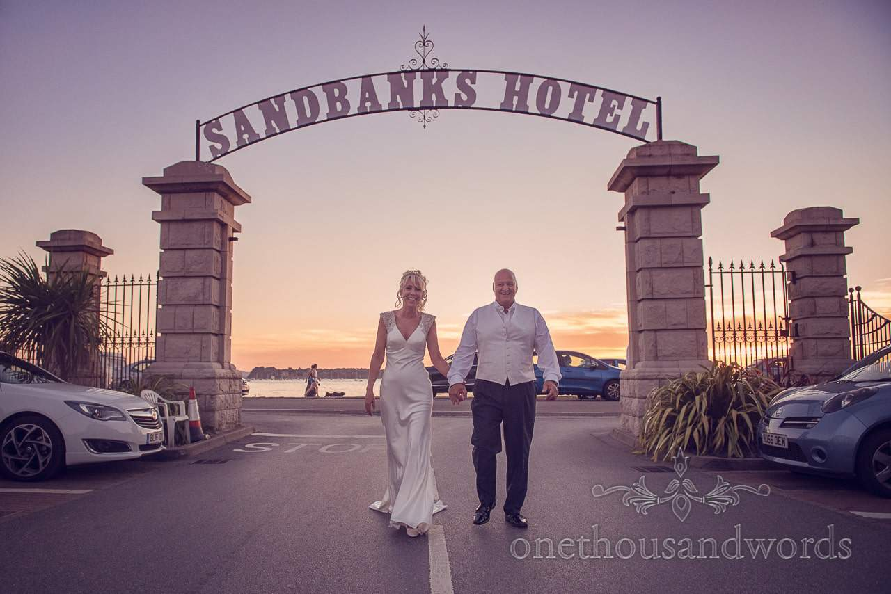 Sandbanks Hotel Documentary Wedding Photographs