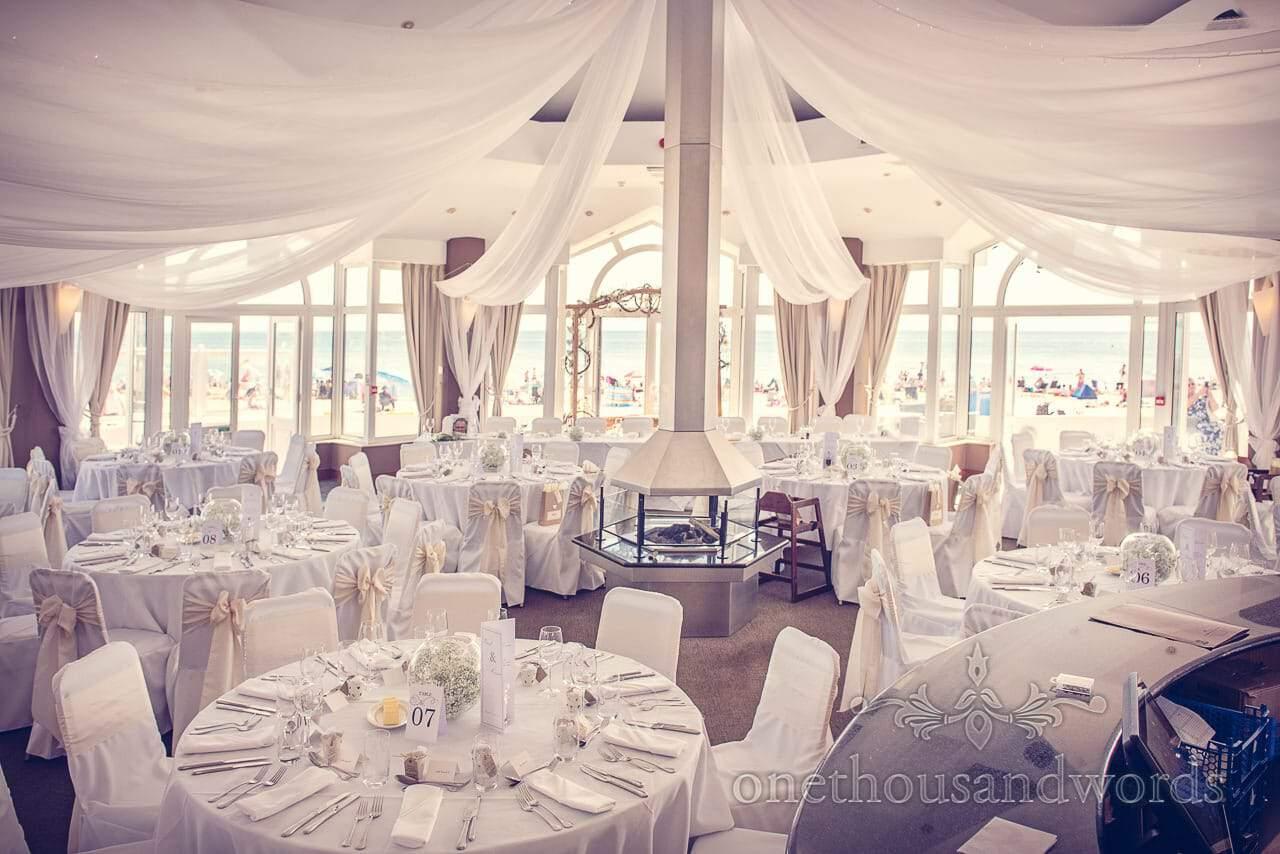 The Compass suite set up for wedding at Sandbanks Hotel Wedding