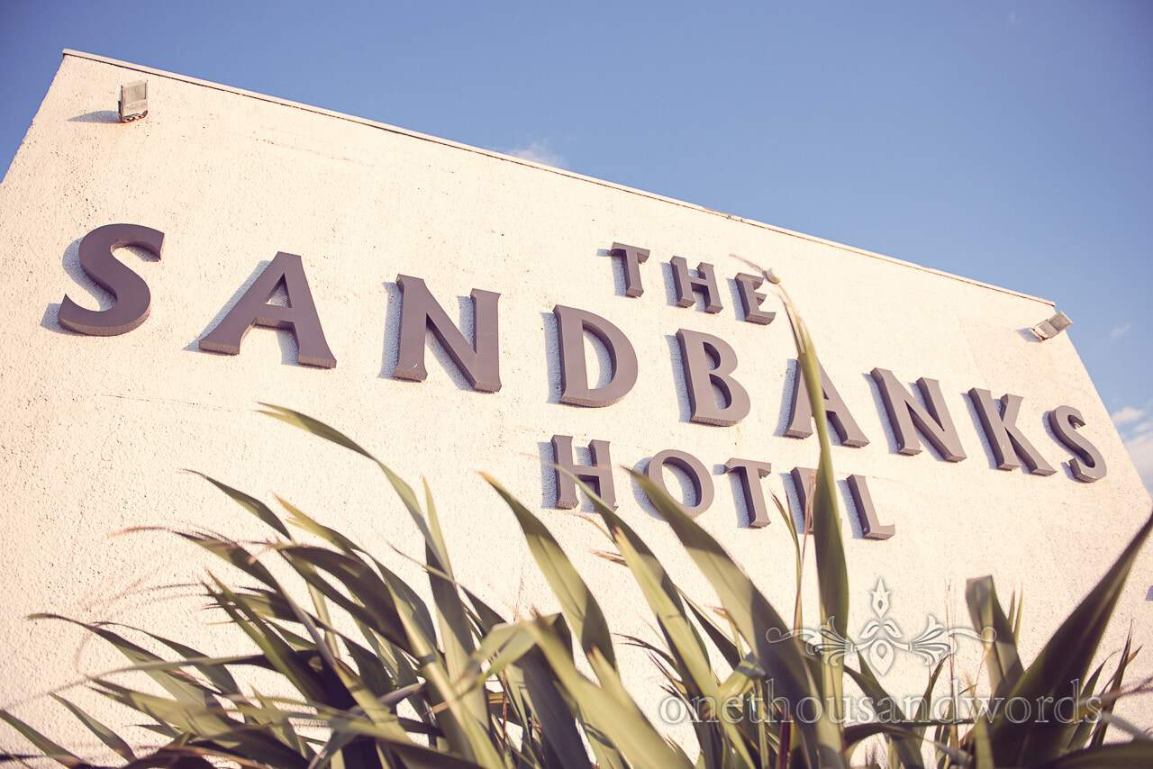The Sandbanks Hotel wedding venue in Dorset Sign