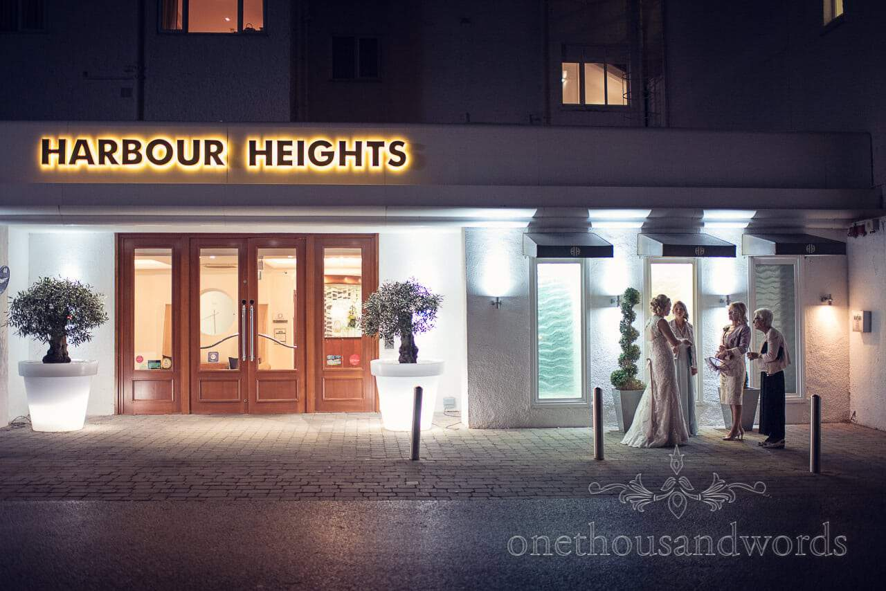 Harbour Heights Hotel Outdoor Wedding Photos