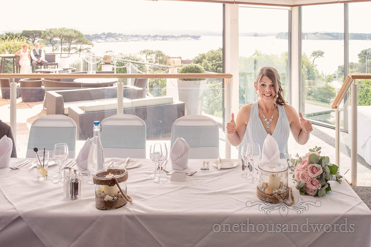 Bridesmaid at top table from Harbour Heights wedding