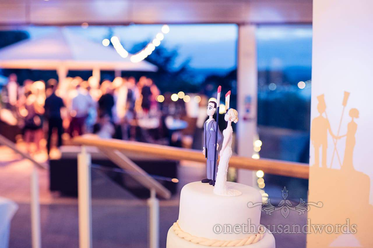 Custom cake topper at Harbour Heights Outdoor Wedding