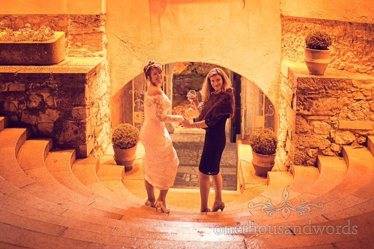 Destination wedding photographers capture bride in medieval Slovenian castle