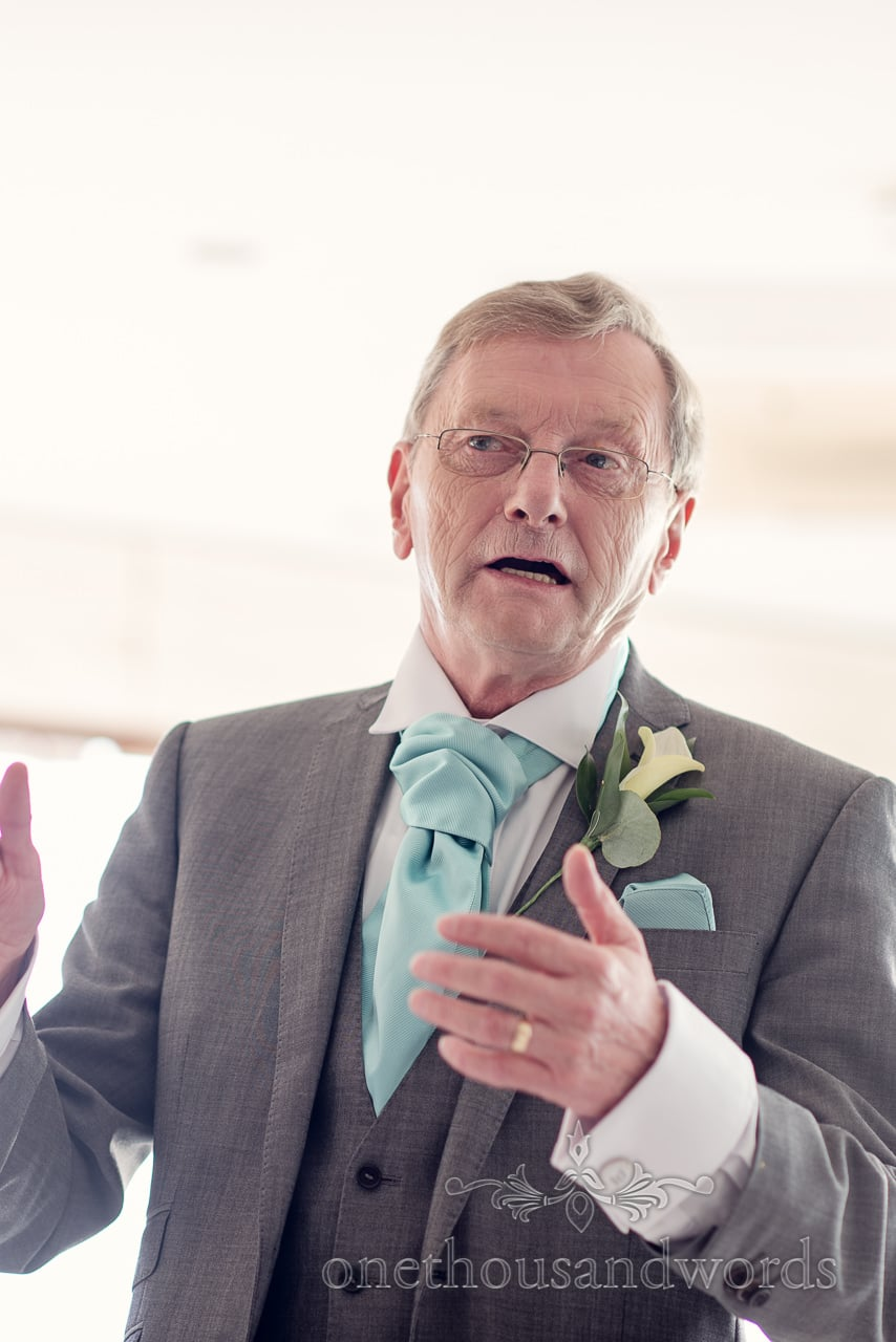 Father of the bride during his speech at Harbour Heights wedding