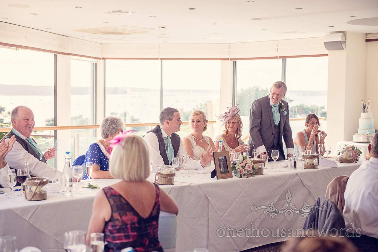 Father of the brides speech at Harbour Heights wedding