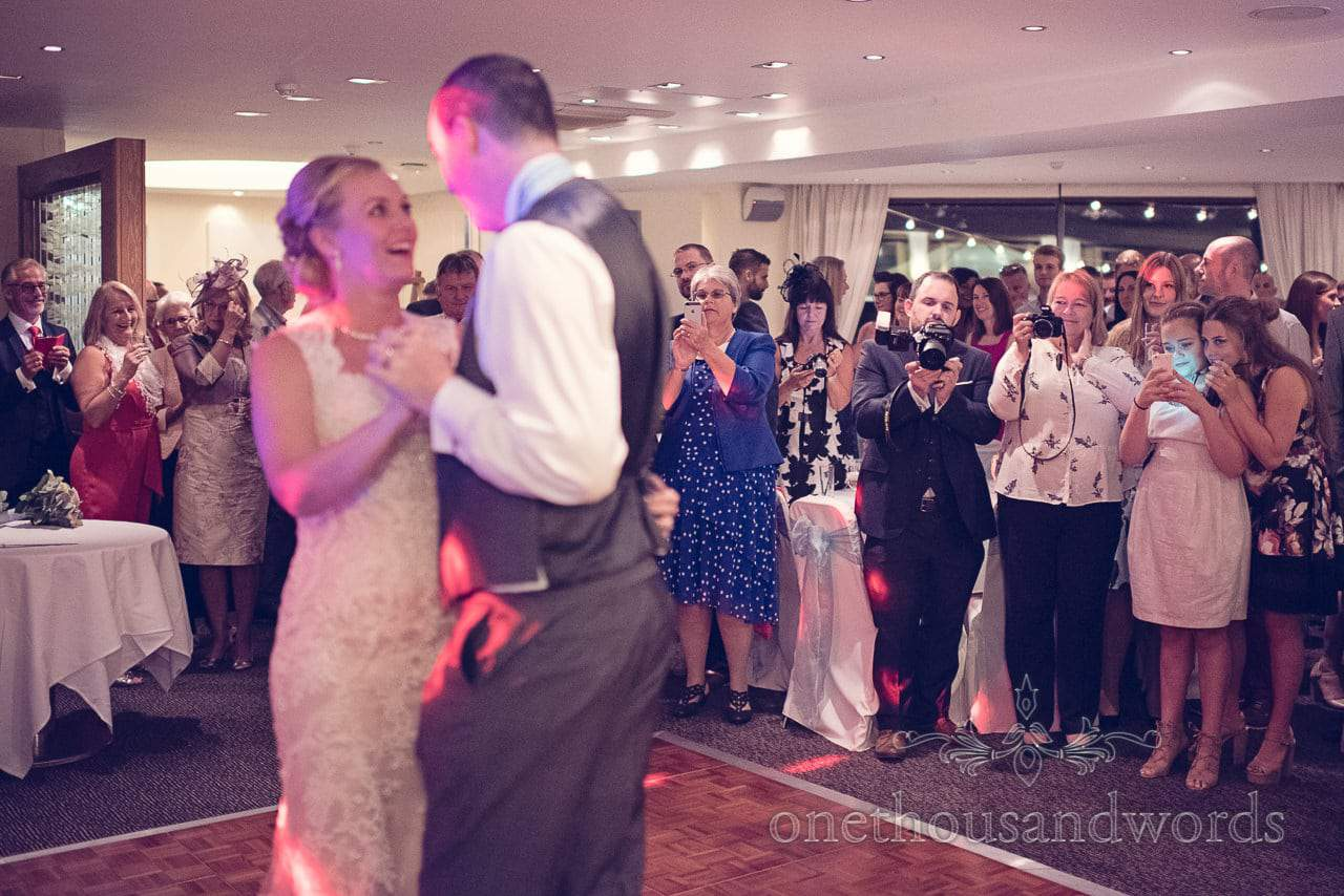 Guests watch the first dance at Harbour Heights Wedding