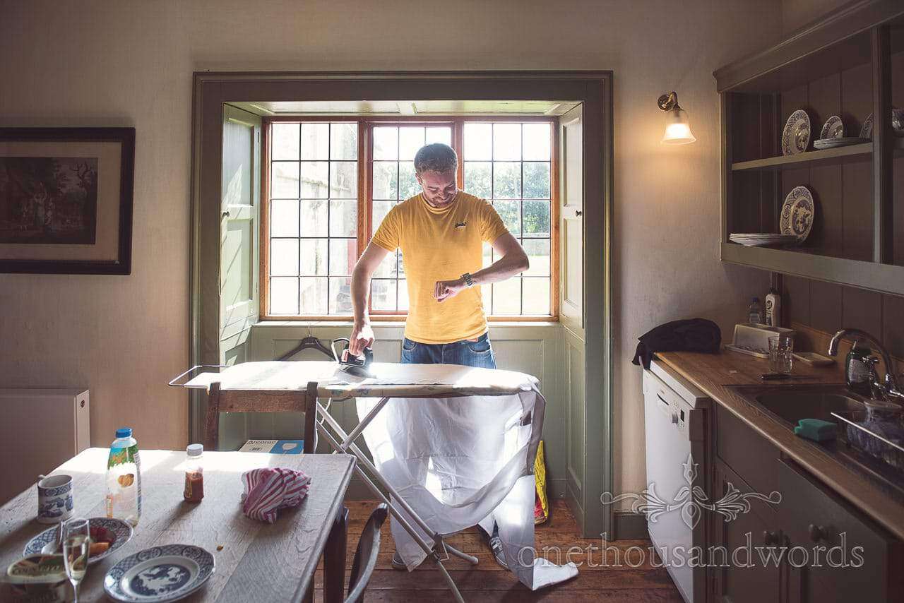 Morning preparation at Dorset Castle Wedding Photographs
