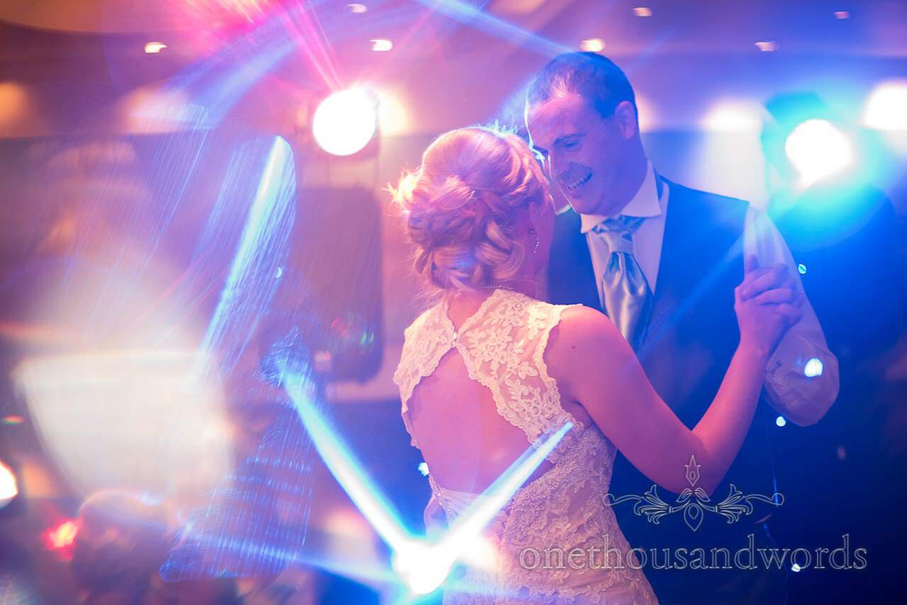 Newlyweds on the dance floor at Harbour Heights Wedding
