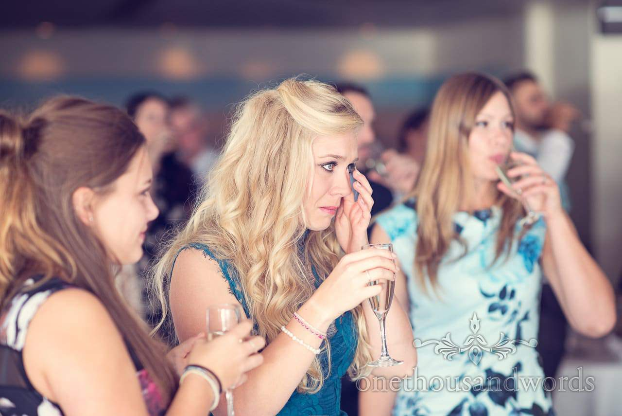 Tears during speeches at Harbour Heights wedding