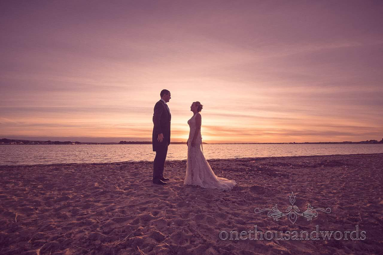 Wedding couple on the beach from Harbour Heights outdoor wedding