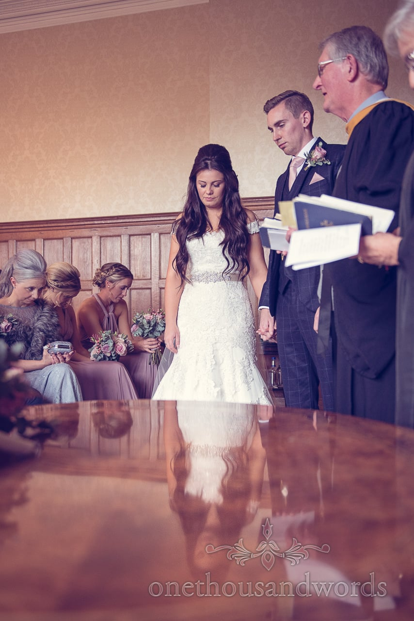Blessing at Froyle Park wedding photographs