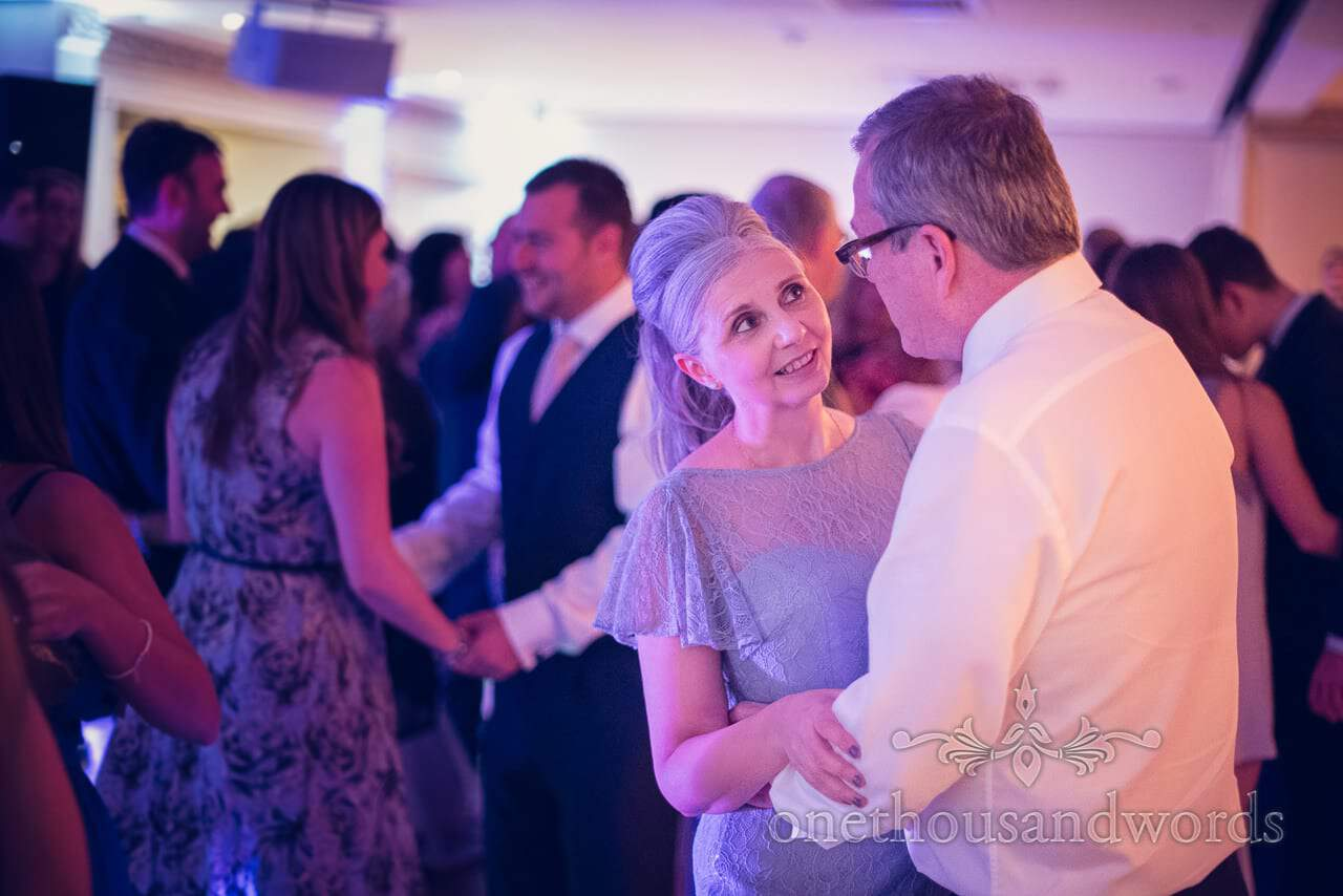 Brides parents dance at Froyle Park wedding photographs