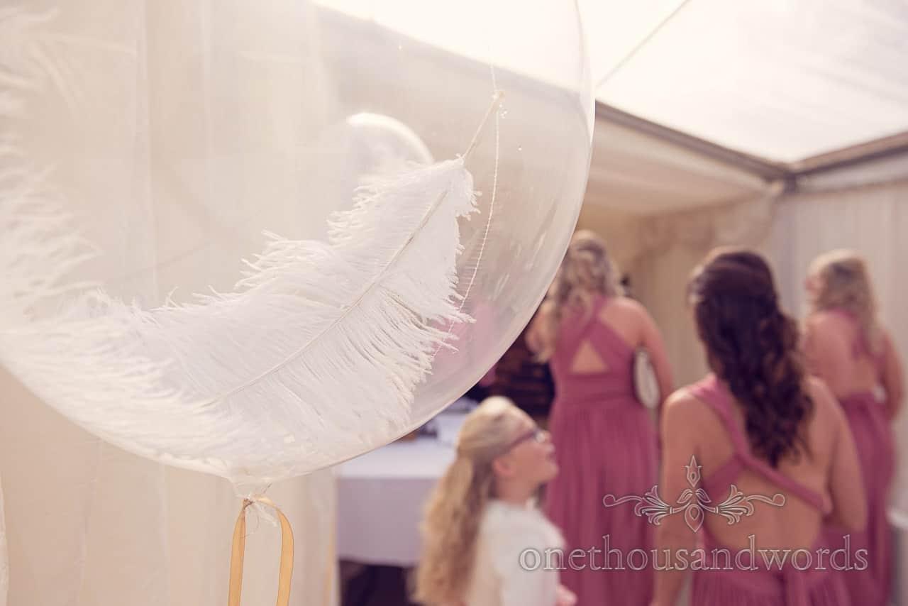 Bridesmaids and flower girls arrive at Holme for Gardens Dorset wedding