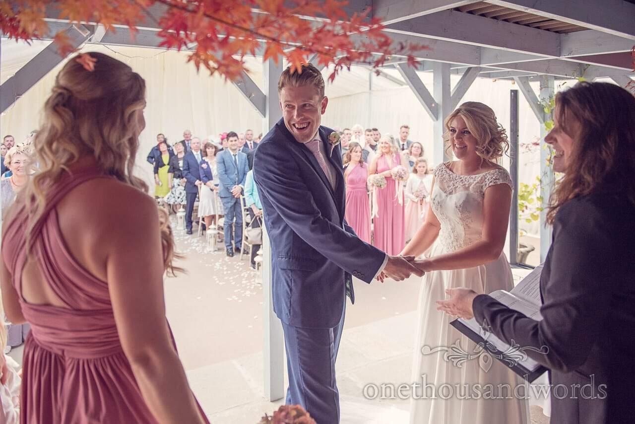 Civil ceremony at Holme for Gardens Dorset wedding
