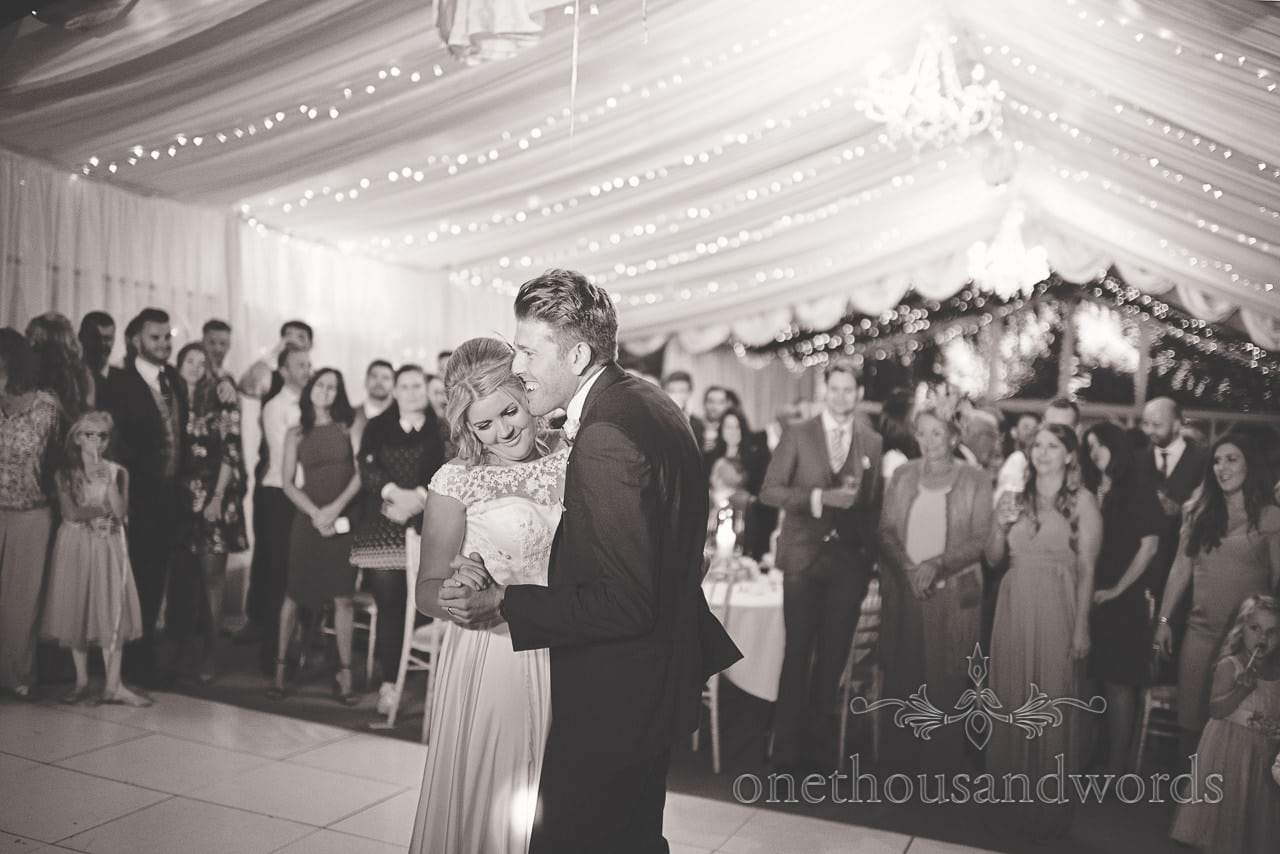 First dance at Holme for Gardens Dorset Wedding