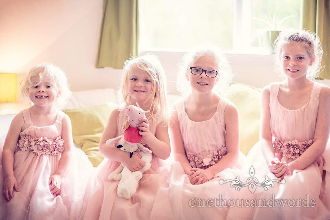 Flower girls from Holme for Gardens wedding