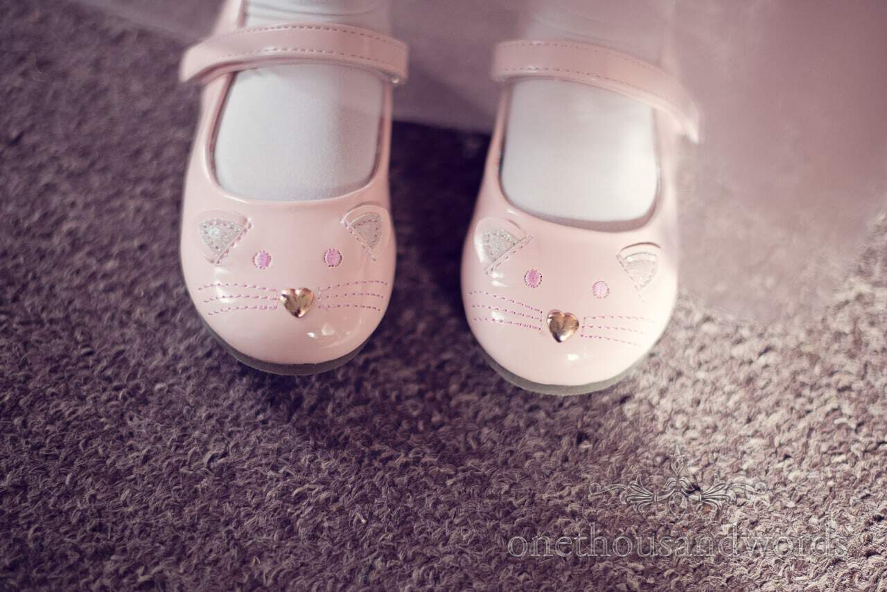 Flower girls shoes from Holme for Gardens wedding