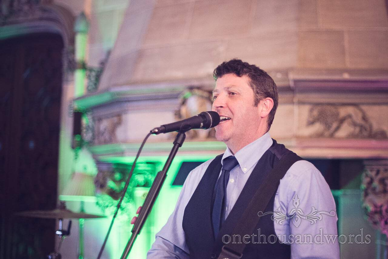Frankie Rudd wedding band singing at Northcote House wedding in Berkshire