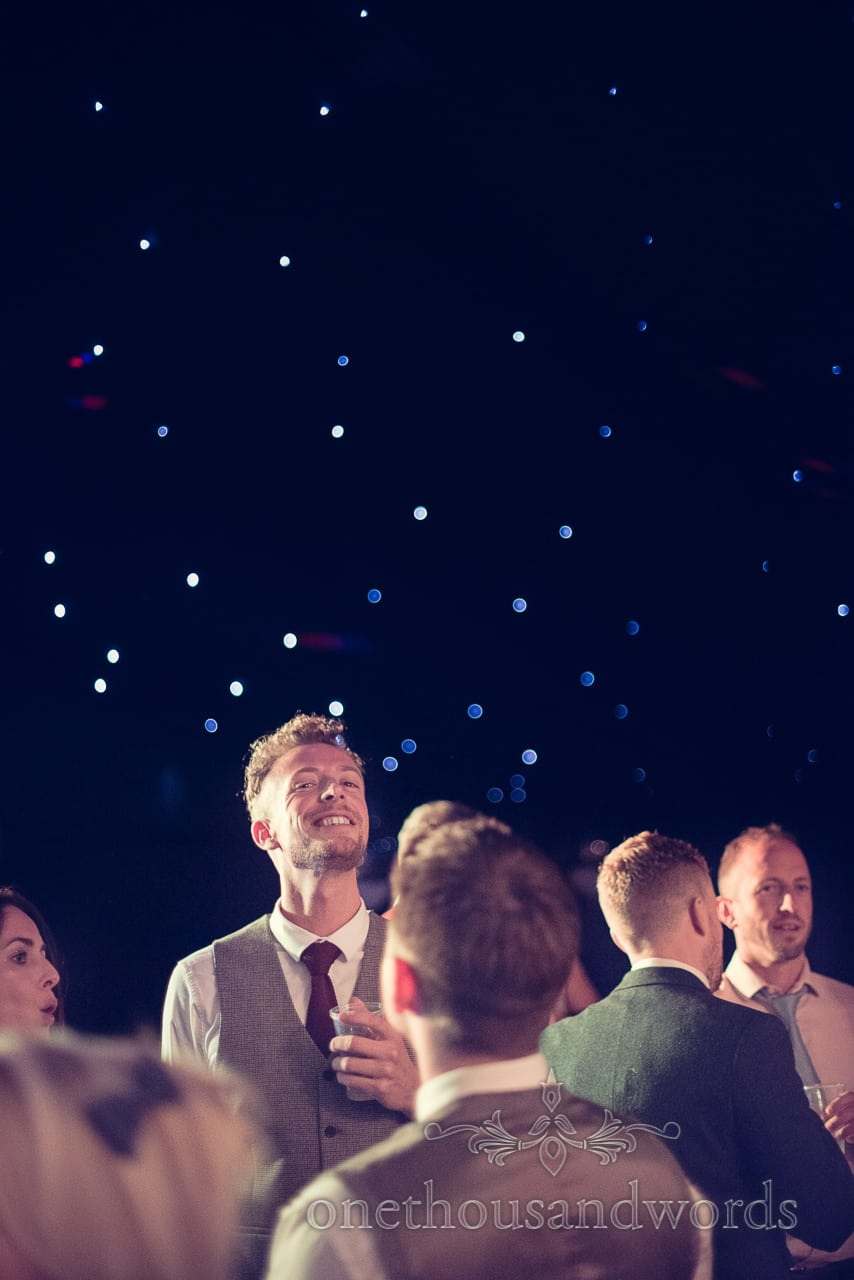 Guests enjoy the dance floor at Holme for Gardens wedding