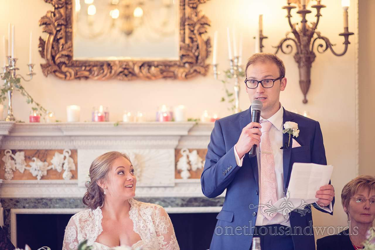 Northcote House wedding photographs of groom's speech
