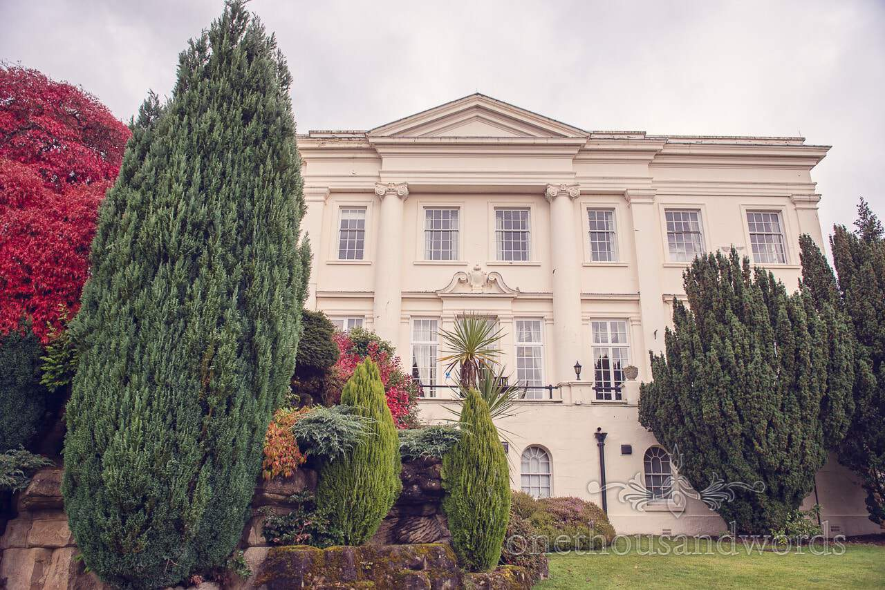 Northcote House wedding venue building and grounds for Autumn Wedding
