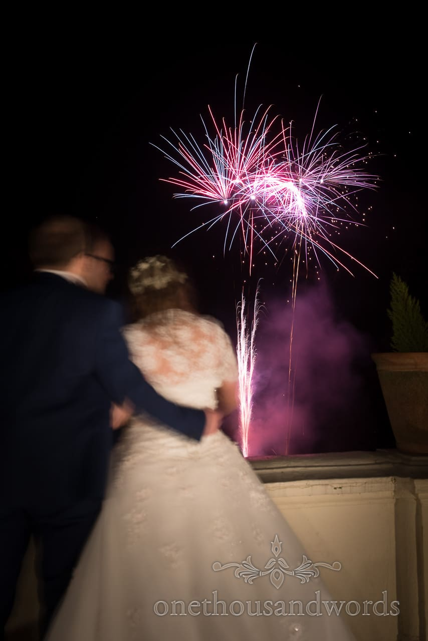 Northcote House wedding venue wedding fireworks photograph