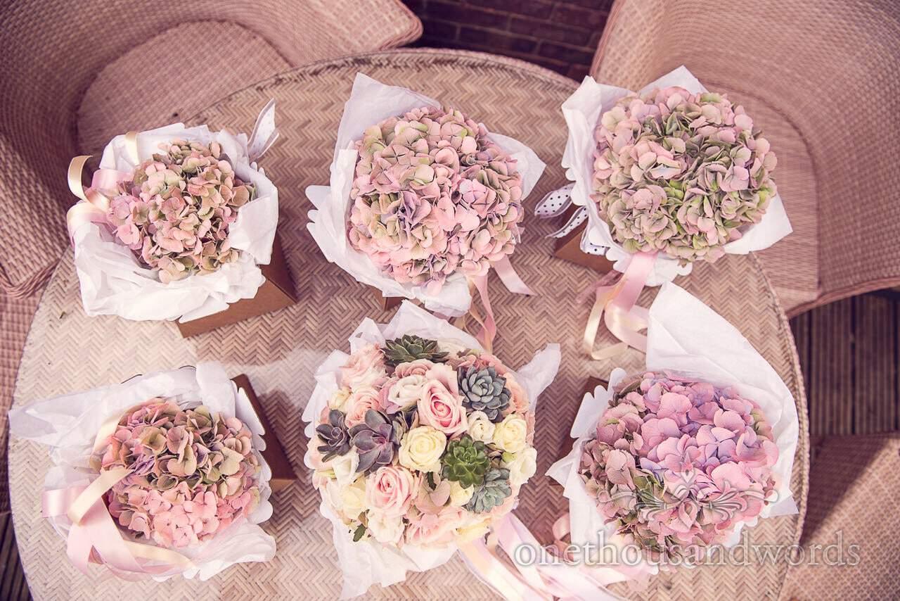 Wedding bouquets for Holme for Gardens wedding