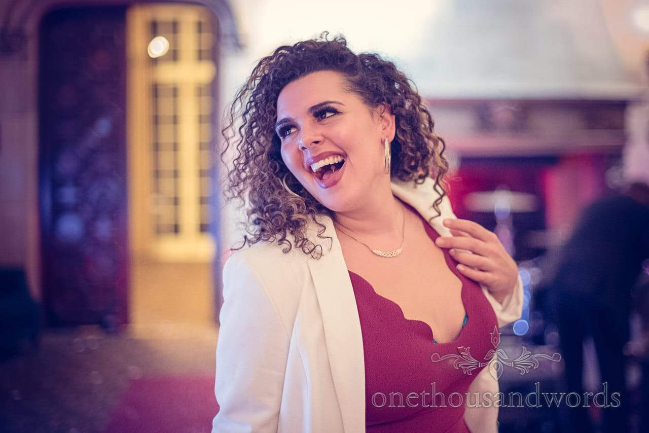 Wedding guest dancing from Nothcote House wedding photographs