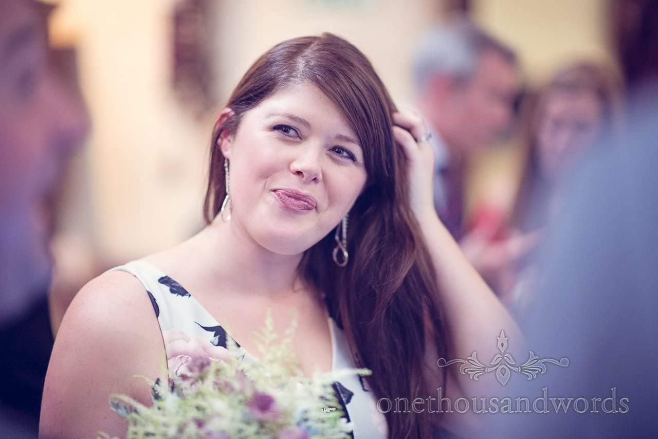 wedding guest portrait photograph at Nothcote House wedding in Berkshire