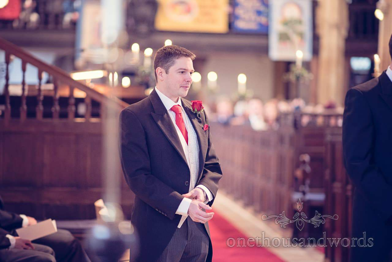 Best man in church from Plush manor wedding photographs