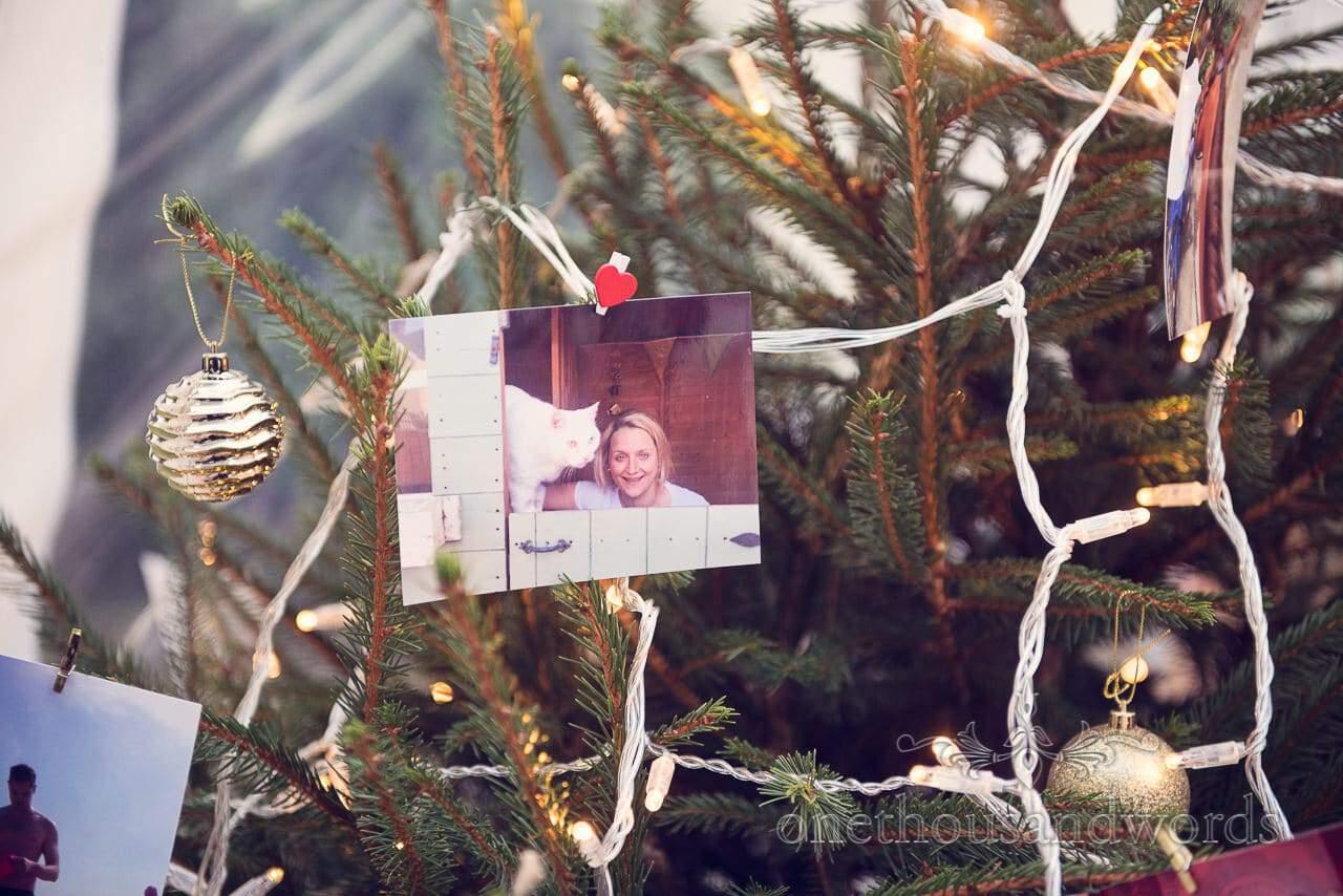 Christmas tree wedding decorations at Plush manor wedding photographs