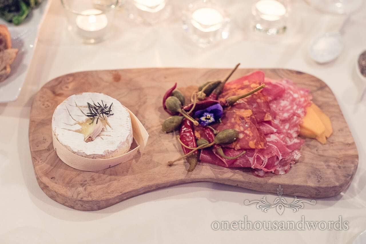 Cold meat and cheese board at Plush manor wedding breakfast