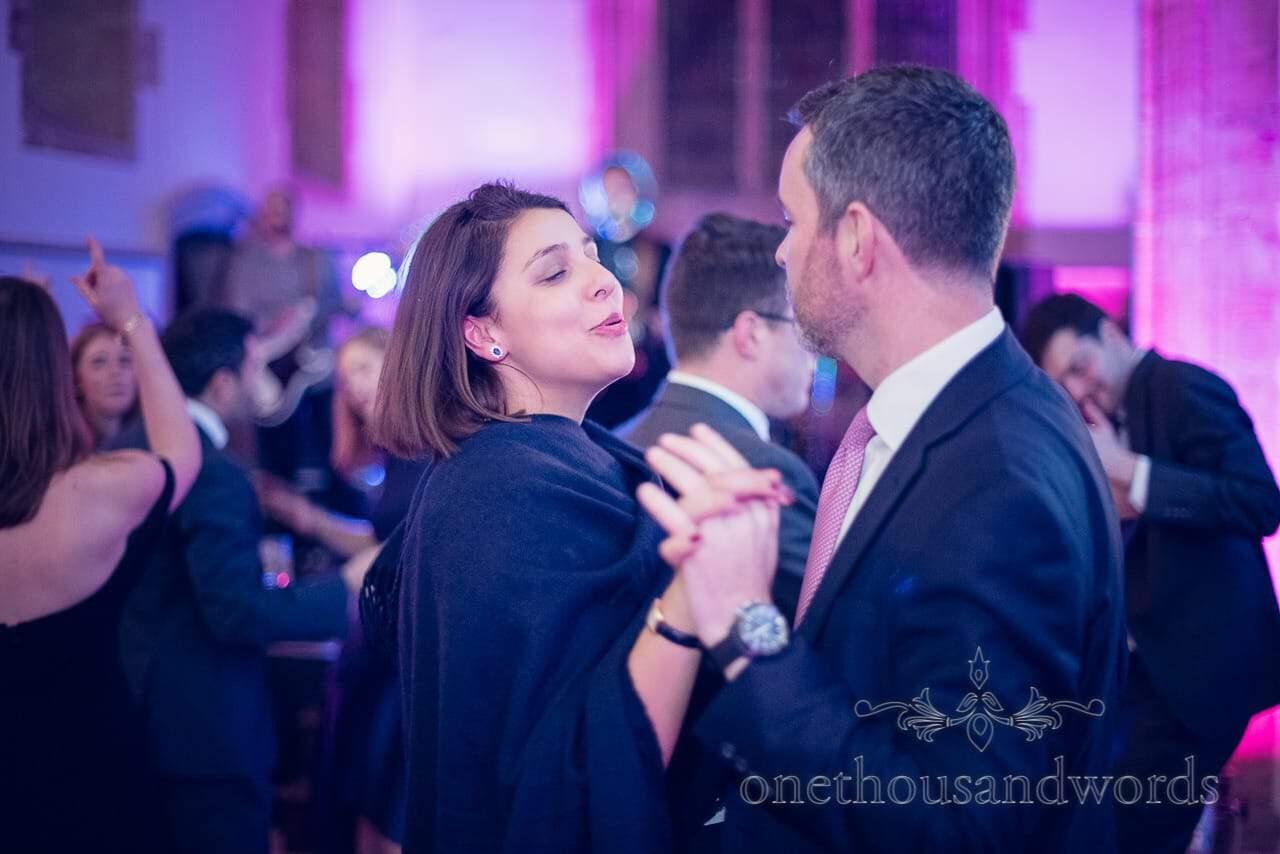 Dancing guests at Plush Manor wedding photographs