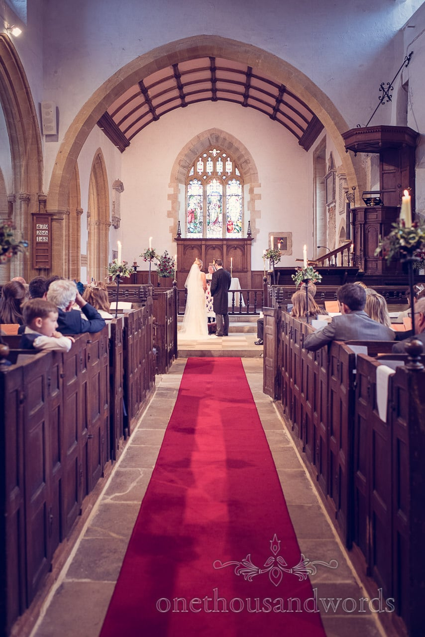 St Mary's English Church wedding ceremony in Puddletown Dorset