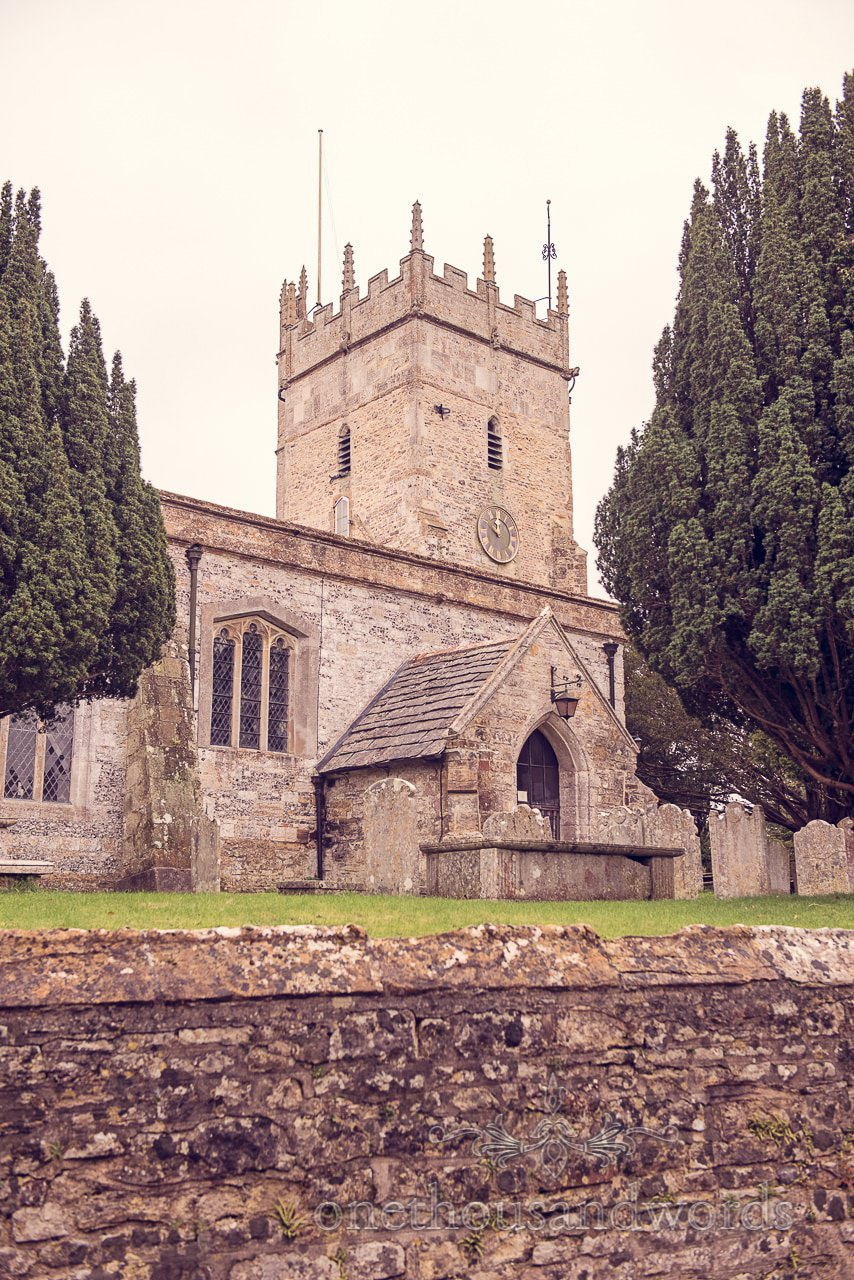 St Marys stone church wedding venue in Puddletown Dorset countryside