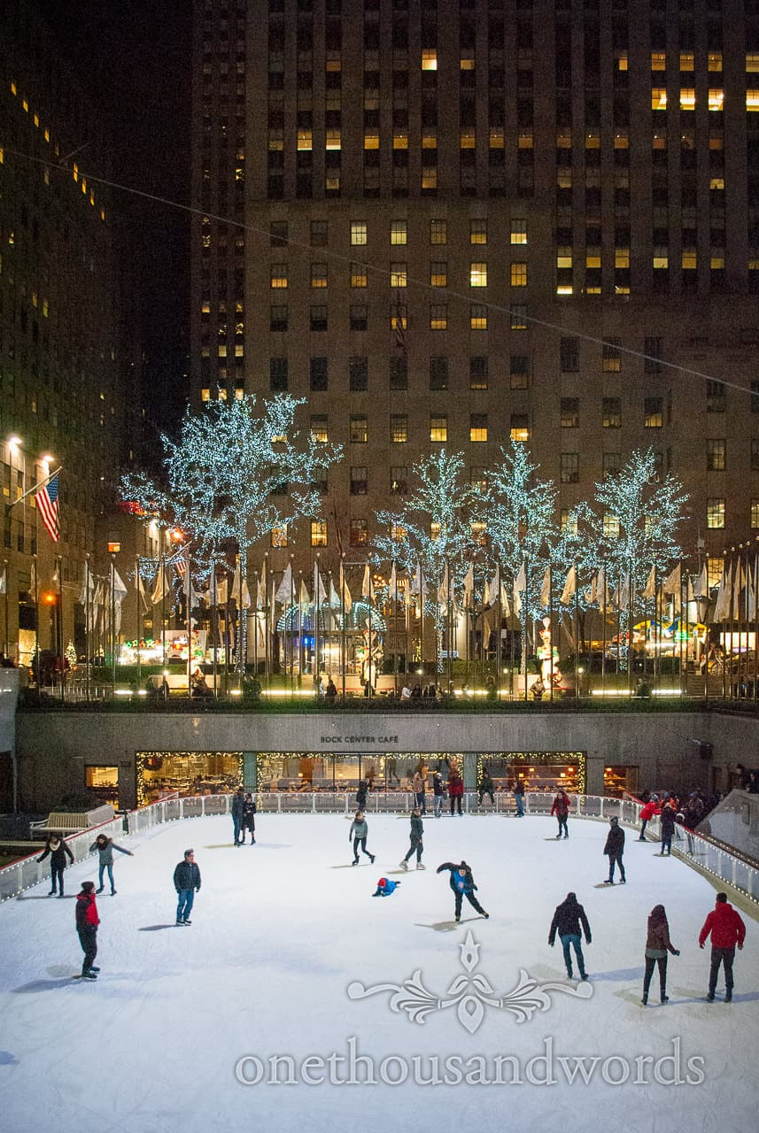 Ice rink at Rockefeller center from New York City marriage proposal Photographs