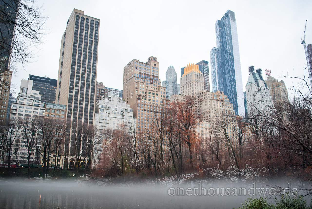 Mist over the lake in Central Park - New York City marriage proposal Photographs