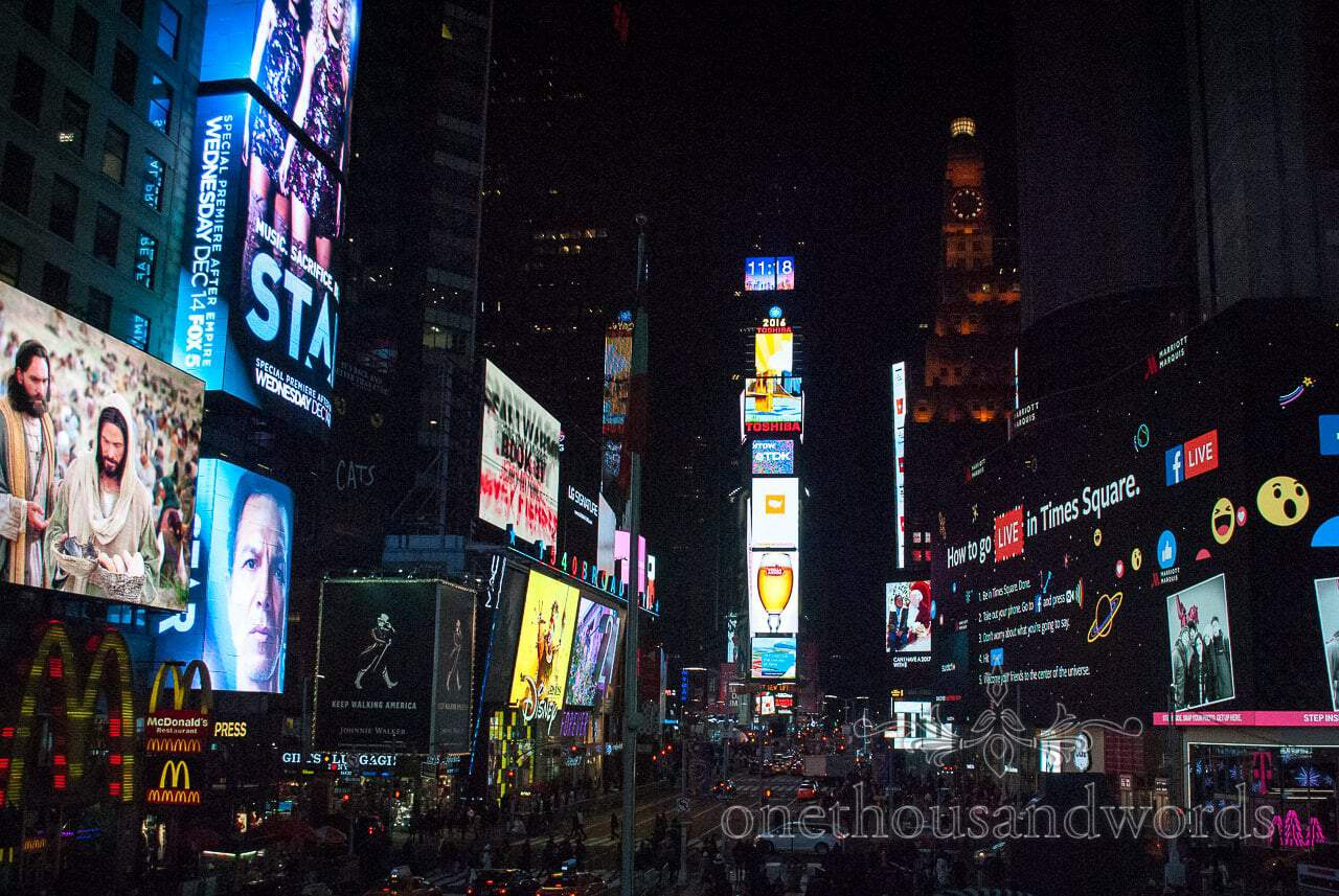 Time square from New York City marriage proposal Photographs