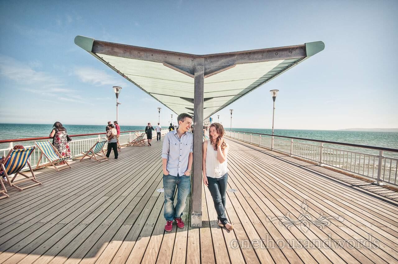 Bournemouth Engagement Photographs – Kristy & Adam on Bournemouth Beach