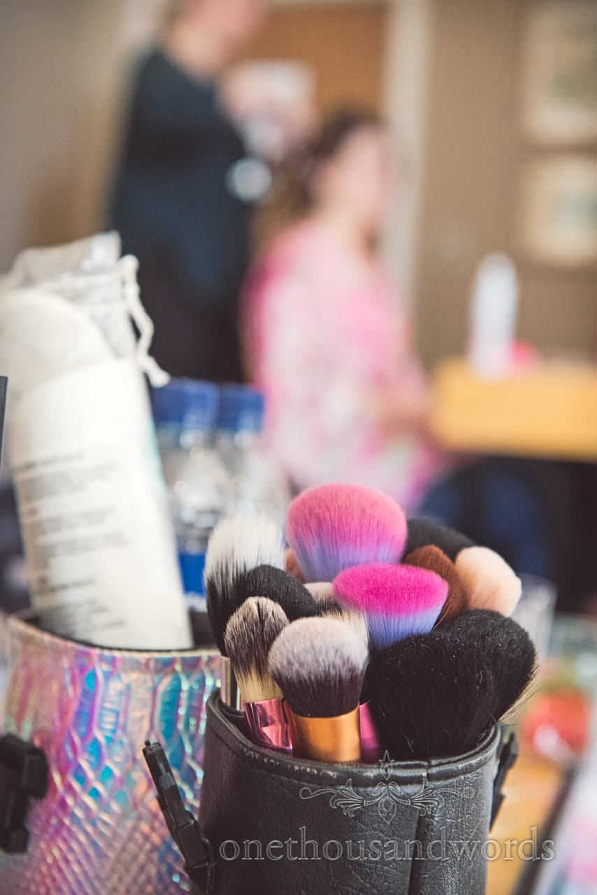 Fiona Lucy Clark wedding makeup artist brushes that look like trolls