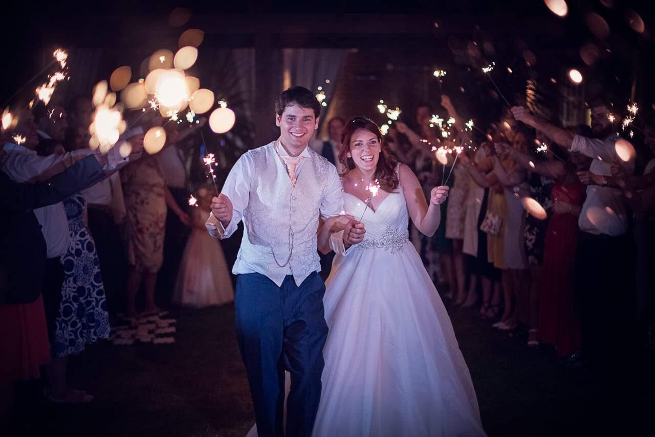 Wedding sparklers photography Dorset wedding photographers one thousand words