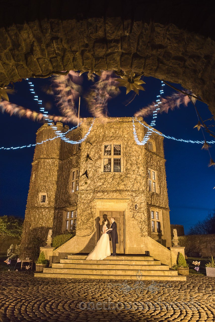 Bride and Groom outside at Walton Castle wedding Photographs