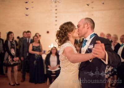 First dance at Walton Castle wedding photographs